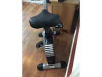 Electric solid exercise bike