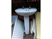 Free Toilet and sink, perfect condition