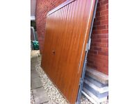 Garage door oak effect. Henderson. 2.4 m width (8ft)