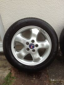 Saab Alloy Wheels with New Michelen Tyres 205 / 55 R 16