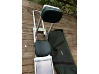 Airflo folding boat fishing seat, with bag