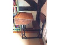 VINTAGE SCHOOL DESK WITH LIFT UP SEAT - £110.00
