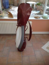 Set of vintage Goudie Stylist clubs complete with golf bag