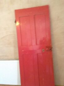 Interior door with working lock, vintage