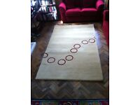 Thick Rug: Soft Gold coloured with ring design 1.5m x 2.4m as new