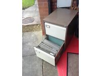 Two drawer roneo vickers filing cabinet with inserts