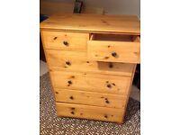 Ikea pine 5 drawer chest