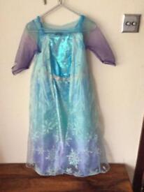 Disney frozen Elsa fancy dress costume age 7-8 years