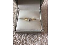 18ct Yellow Gold 1/2 Carat Diamond Solitaire Engagement Ring