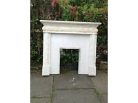 Fireplace surround complete with back.£125