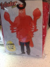 Brand new fancy dress lobster outfit