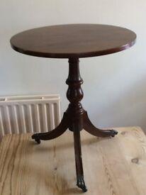 Quality Mahogany Circular Side Table