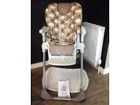 Chicco Polly Double Phase High Chair with instructions