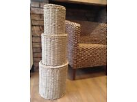 Storage baskets x 3 made of seagrass