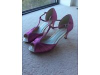Pink Satin Shoes Size 5 (38)