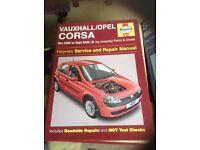 Vauxhall corsa manual 2000 to 2003 models