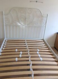 Used but still in good condition bed frame with bed base (reclinable))