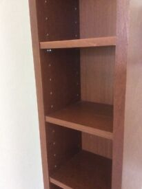 IKEA Gnedby TALL CD Storage shelving unit in rare cherry finish.