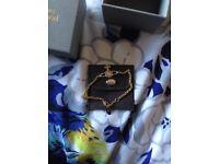 Vivienne Westwood Gold Mini Bas Relief Bracelet