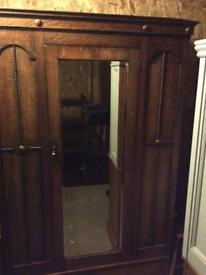 Antique mirror wardrobe