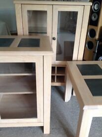 3 pieces of solid wood furniture