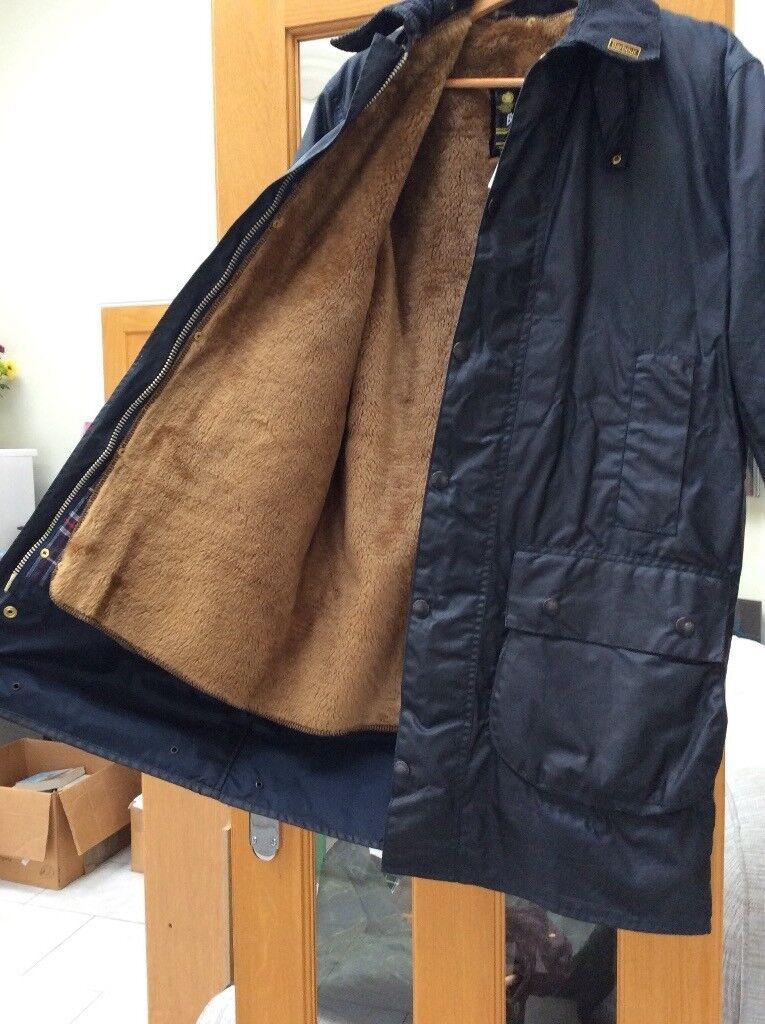 Barbour Border wax jacket - A205 c38/97cm - navy blue