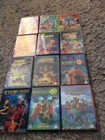 9 x scooby doo dvds