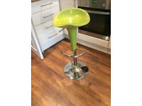 Lime green bar/ kitchen stool