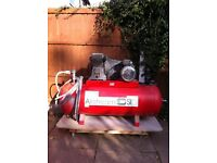 Air stream compressor spi 150ltr hardly used £200 comes with air line