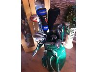 Set of golf clubs callaway irons