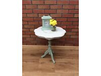 Shabby chic lamp tables (x2)