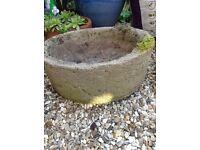 Round Stone Planter.