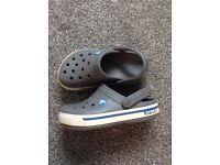 Grey crocs size 1
