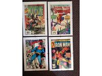 Superhero comics framed (spider man, superman, iron man. Wolverine