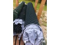 Green Chain Link Plastic Coated Fencing - Cheap !