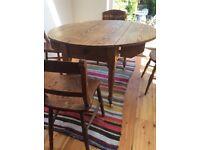 Pine antique round table