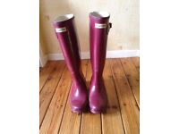 genuine hunter wellies bought in house of frazer