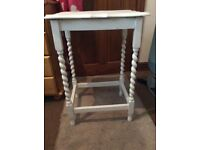 Shabby Chic White Wooden Table