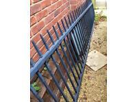 Solid steel gate