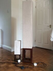 Floor lamp and table lamp - matching pair