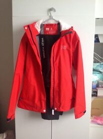 Helly Hanson waterproof jacket and trousers size small colour red
