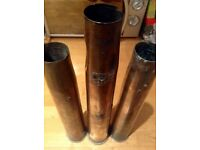 Rare WW2 antique vintage brass anti aircraft shells
