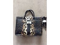 Hand Bag by LYDC, animal print, size width 39cm, height 27cm. Comes with shoulder strap, £5.00 .....