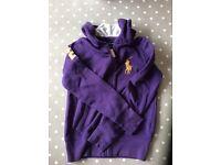 RALPH LAUREN girls hooded jumper aged 7