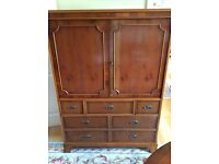 Beautiful yew wood TV and media cabinet