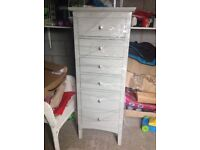 M and S grey Hastings tall boy drawers and double wardrobe