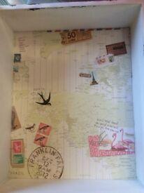 Bon Voyage World Print Shelf