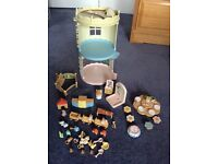 Toys Sylvanian Families Nursery for the Babies plus playpen, train set and afternoon tea