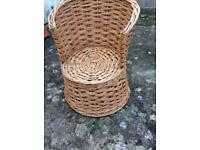 Vintage kids wicker chair
