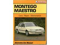 Montego Maestro- Autodata Car Repair Manual 1984 - 1990